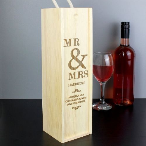 Personalised Couples Bottle Wine Spirit Presentation Box